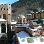 Rila Monastery in winter 1